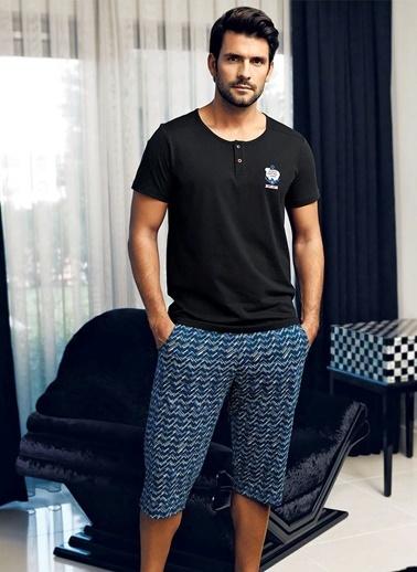 Şahinler Pijama Takım Siyah
